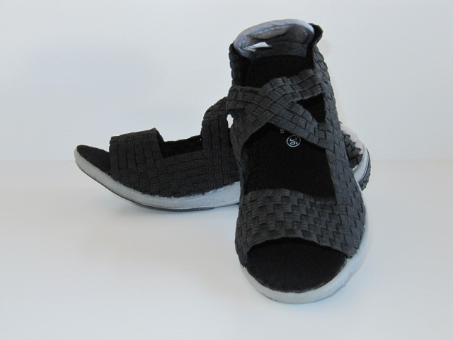 Black Cross StrapSandal